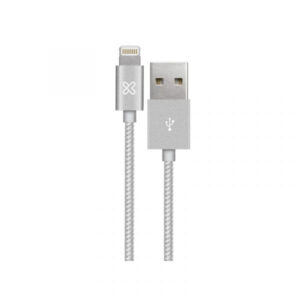 Cable con conector Lightning a USB Klip Xtreme KAC-010SV, 1 m, Silver