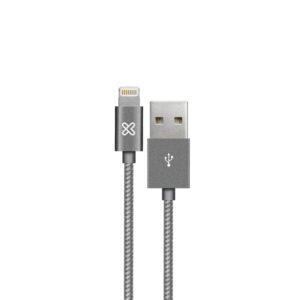 Klip Xtreme, USB cable, 4 pin USB Type A, 1 m, Gray, Braided
