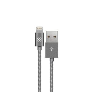 Cable Lightning a USB Klip Xtreme KAC-020GR, Gray, 2m