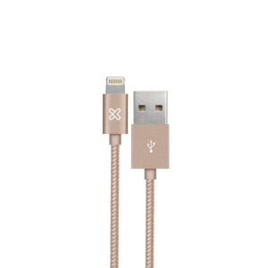 Cable con conector Lightning a USB Klip Xtreme KAC-001RG, 0.5 m, Rose Gold