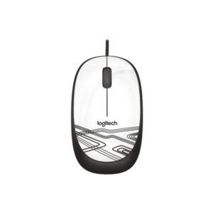 Mouse Logitech Óptico M105, Alámbrico, USB, Blanco (910-003138)