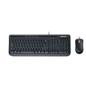 Kit teclado y mouse Microsoft Wired 600, USB, Negro (3J2-00008)