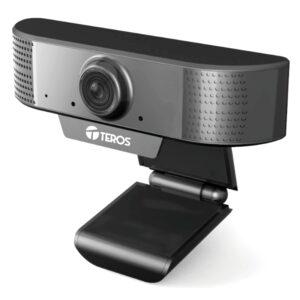 CÁMARA WEB TEROS TE-9070, HASTA 1080P 2MP, MICRÓFONO INCORPORADO, USB 2.0