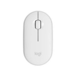 Mouse Logitech Pebble M350 Silent Wireless, Bluetooth, Blanco (910-005770)