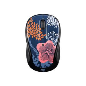 Mouse Inalámbrico Logitech M317C Forest Floral Black (910-005756)